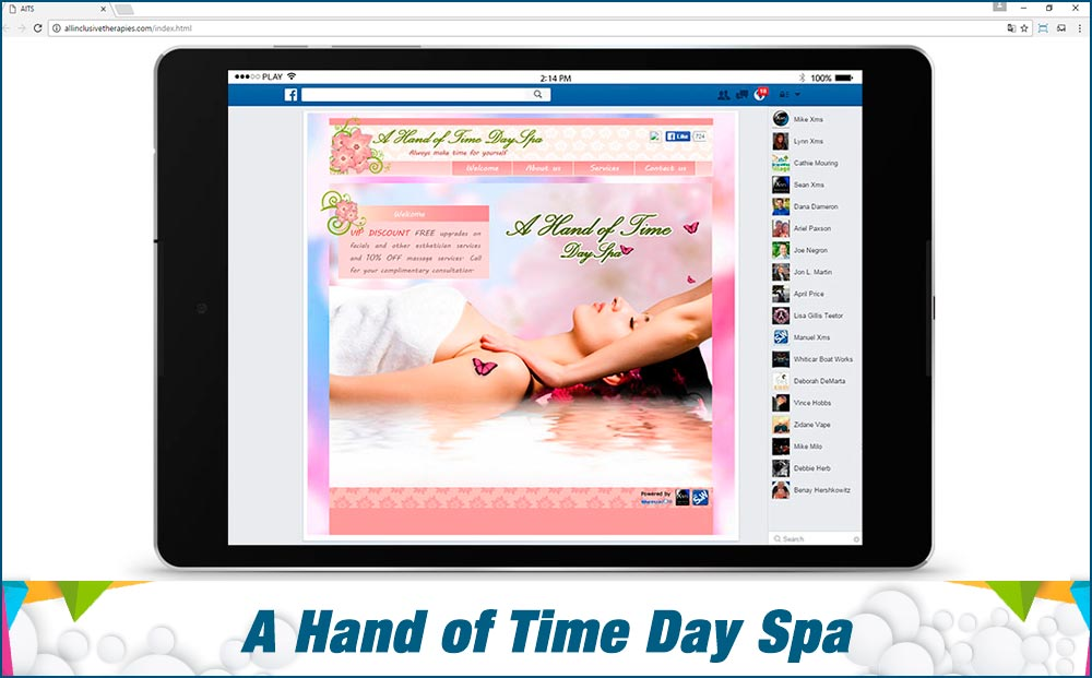 Social Media Site A-Hand-of-Time-DaySpa