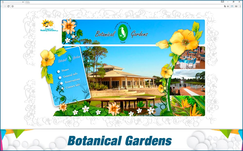 Promotionail Mini Site Botanical-Gardens