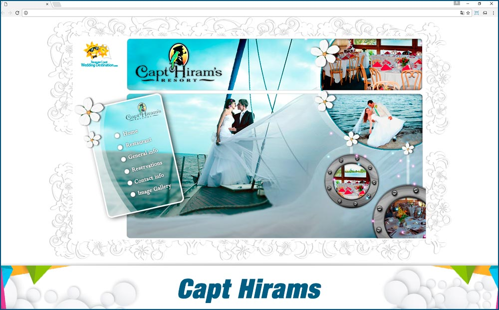 Promotionail Mini Site Capt-Hirams