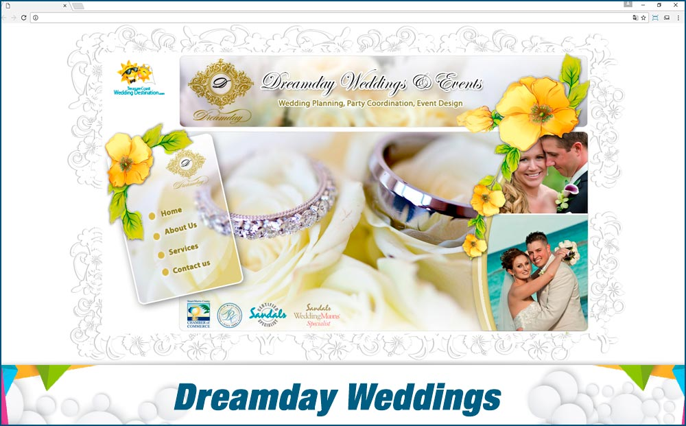 Promotionail Mini Site Dreamday-Weddings-&-Events