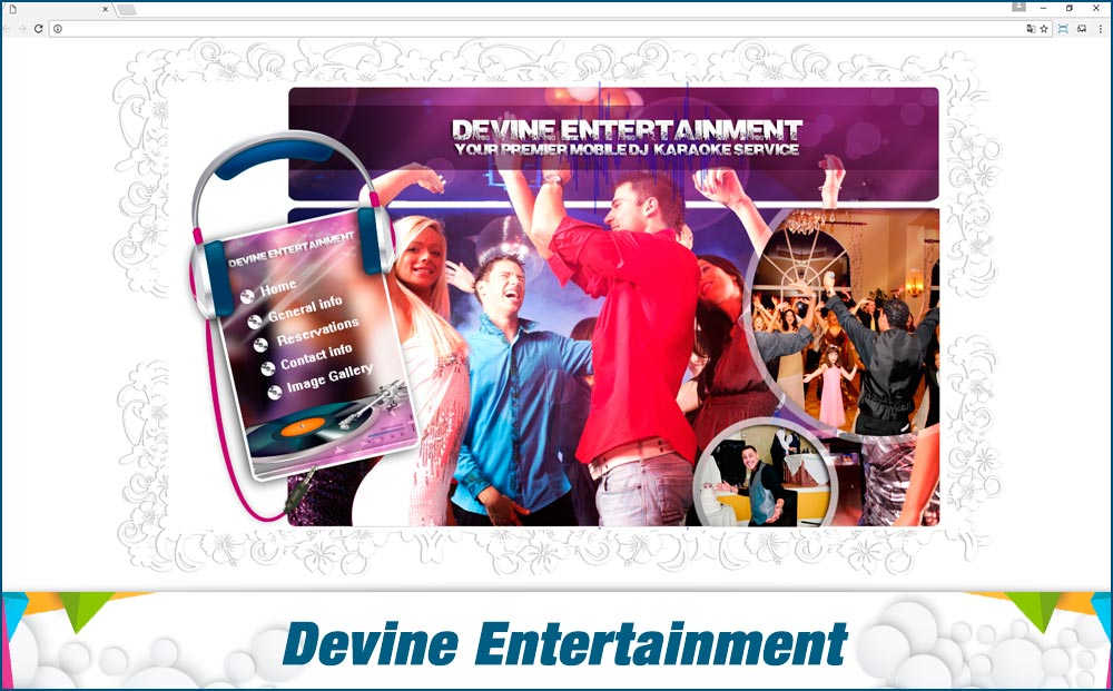 Promotionail Mini Site devine-entertainment