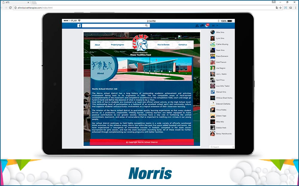 Social Media Site Norris