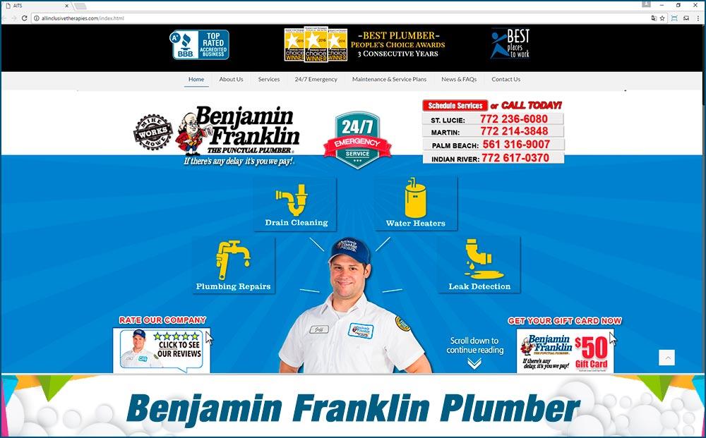 Web benjamin Franklin Plumber