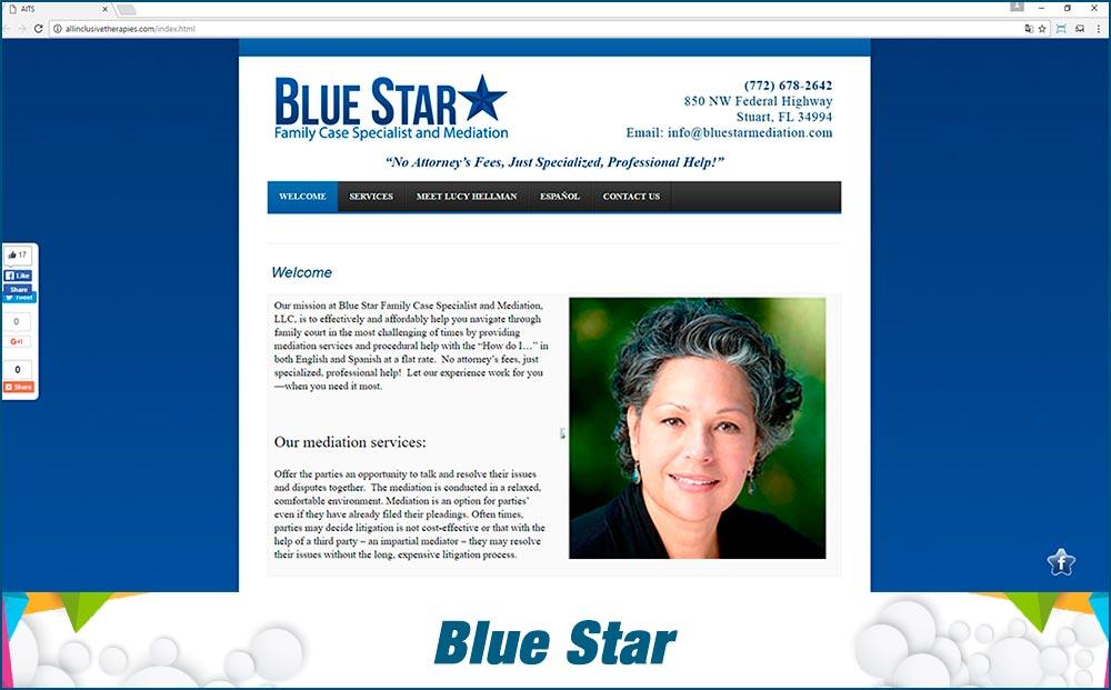 Web Blue Star