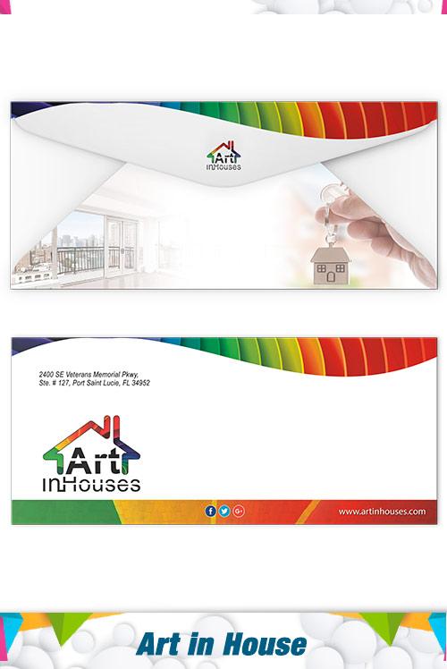 envelopes art in house