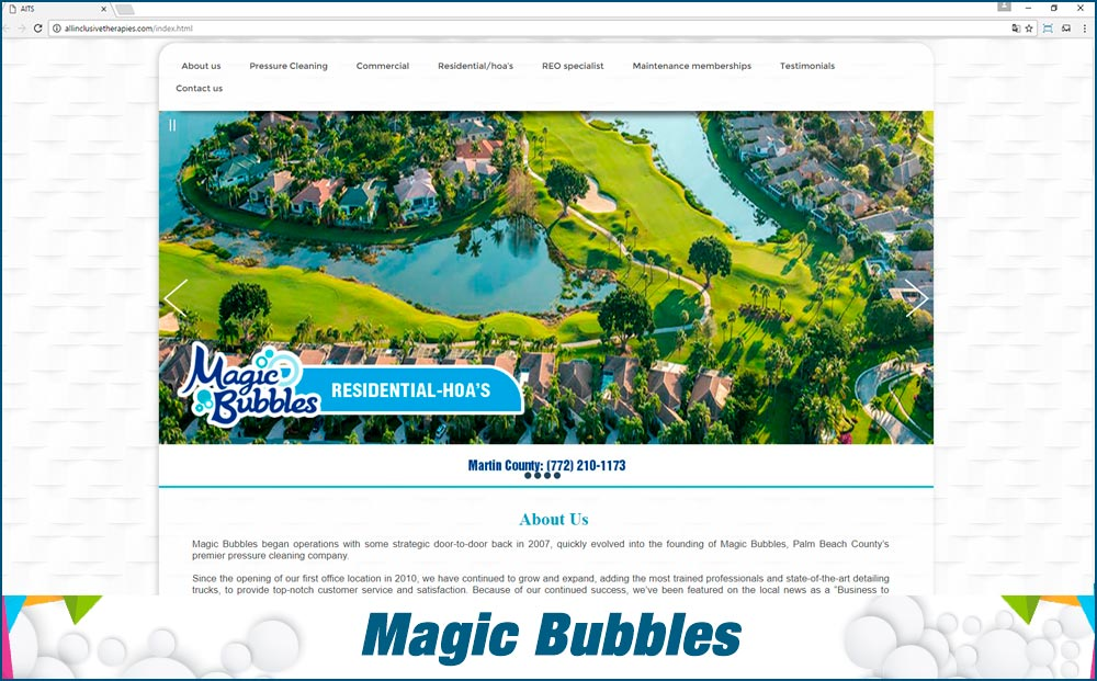 Web Magic Bubbles