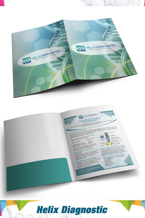Presentation folder helix D