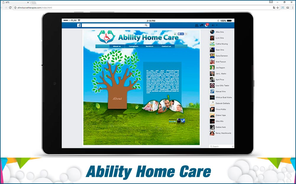 Social Media Site Ability-Home-Care