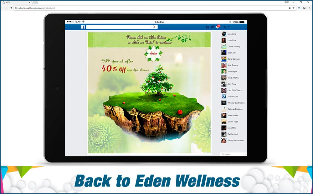 Social Media Site Back-to-Eden-Wellness-Center
