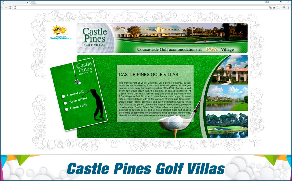 Promotionail Mini Site Castle-Pines-Golf-Villas
