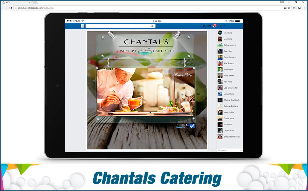 Social Media Site Chantals-Catering