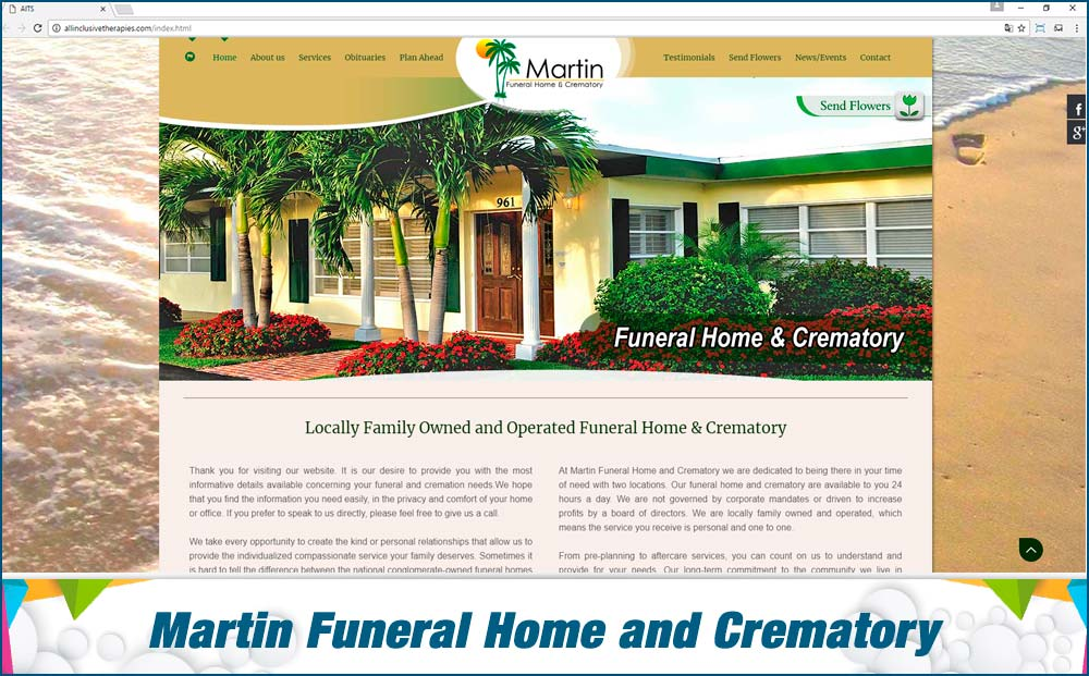 eCommerce Martin funeral home crematory