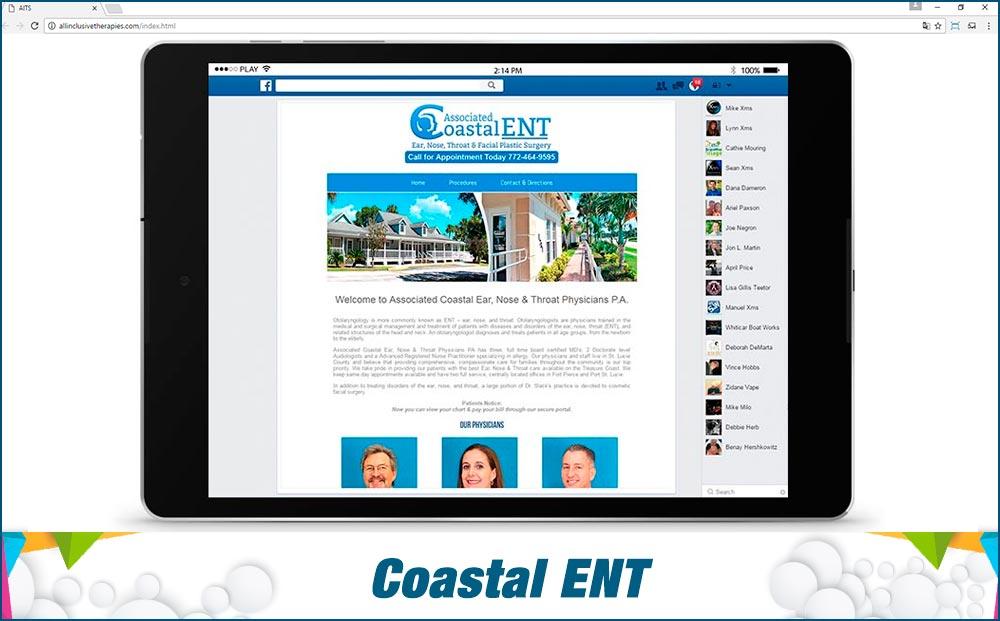 Social Media Site Coastal-ENT