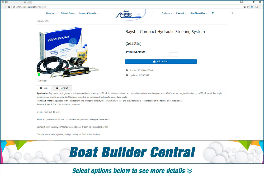 eCommerce Boat builder central