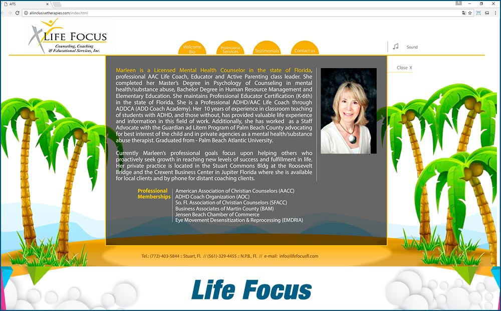Promotional Sites Life Focus