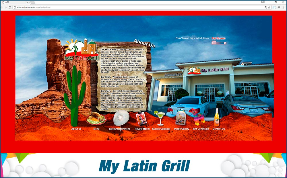 Promotional Sites My Latin Grill