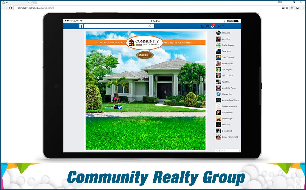 Social Media Site Community-Realty-Group