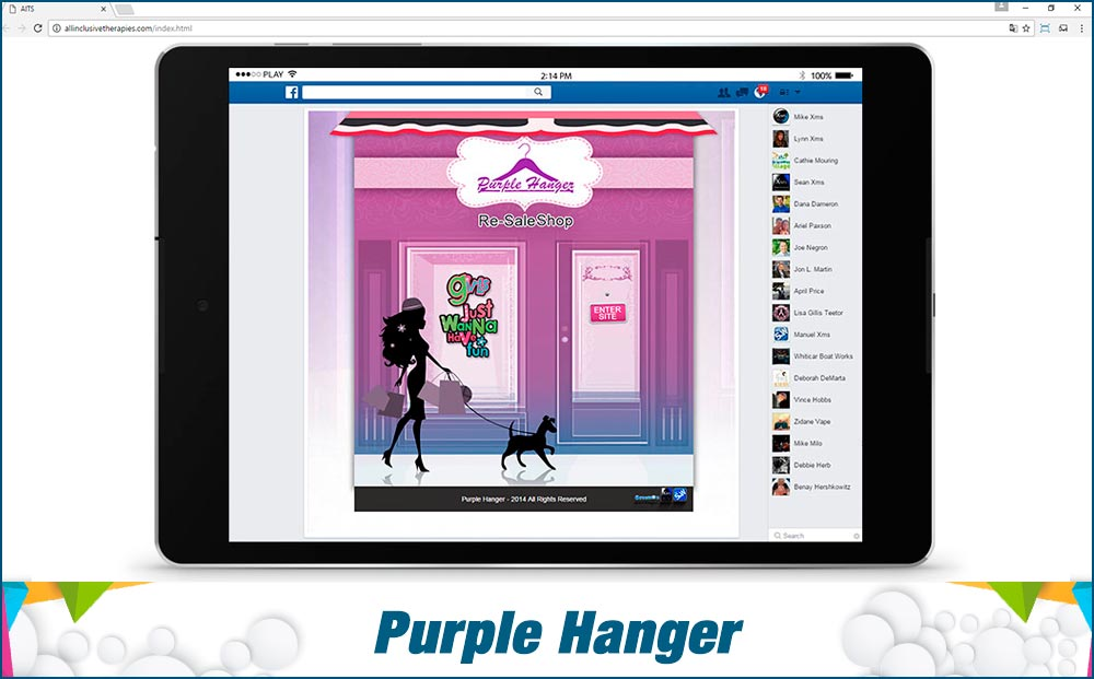 Social Media Site Purple-Hanger
