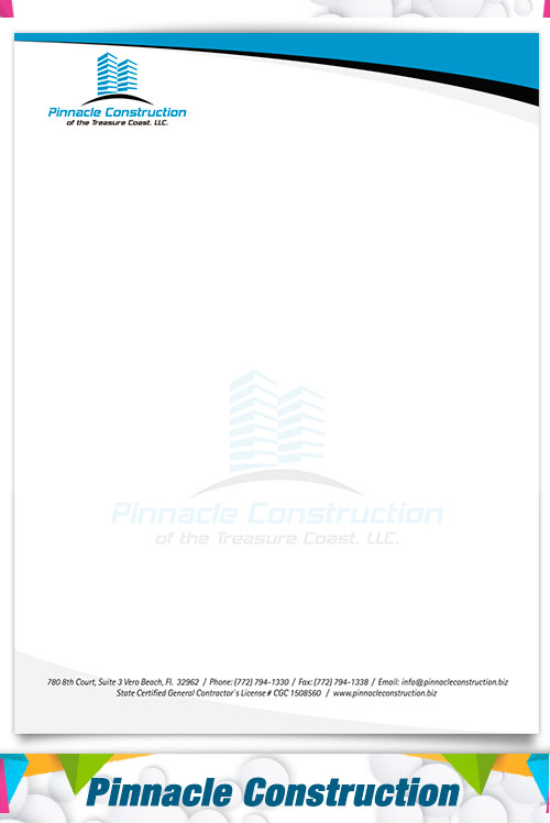 letterhead  Pinnacle Construction