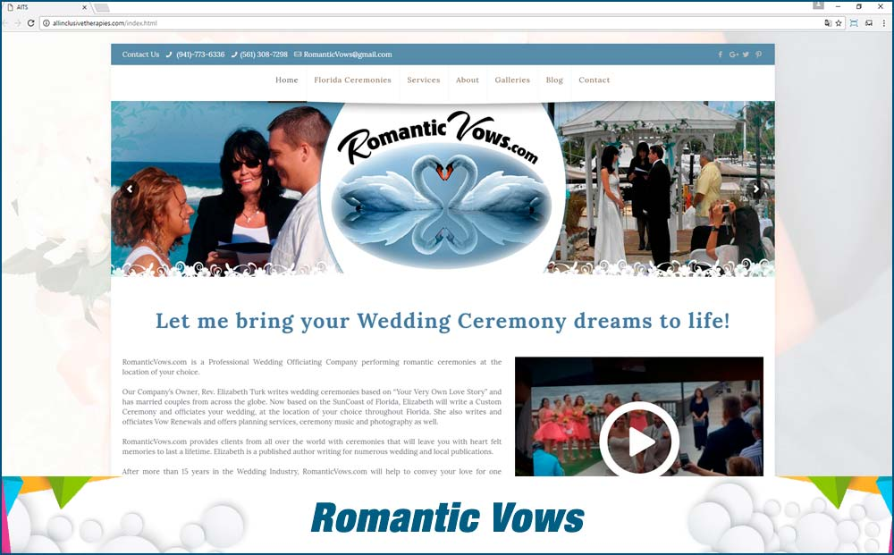 Web Romantic Vows