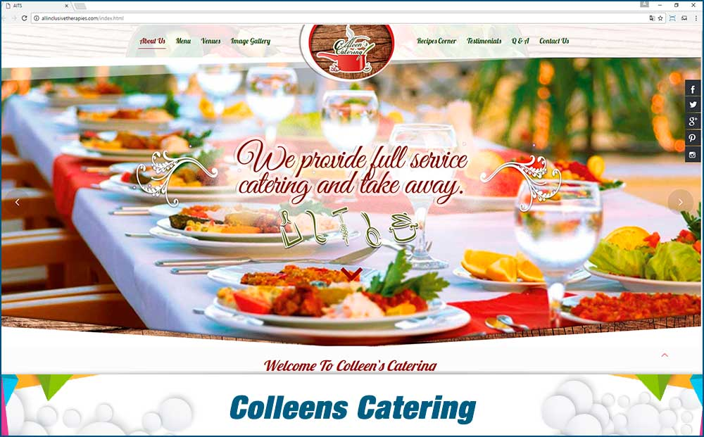 colleens catering services