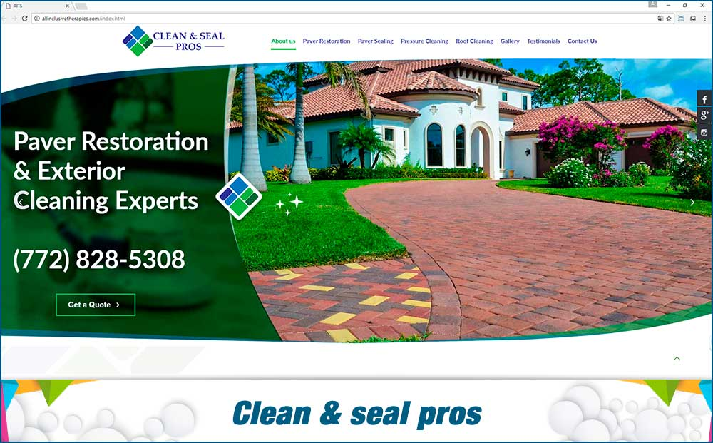 Clean & seal pro -web