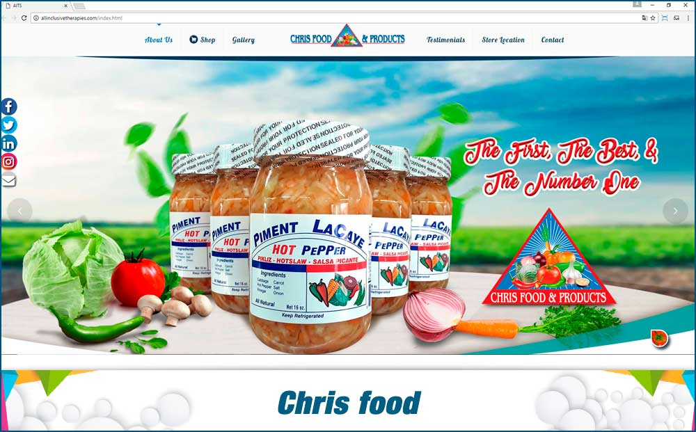 Chris food – web