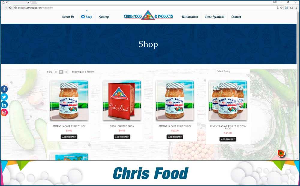 Chris-food-eCommerce Website