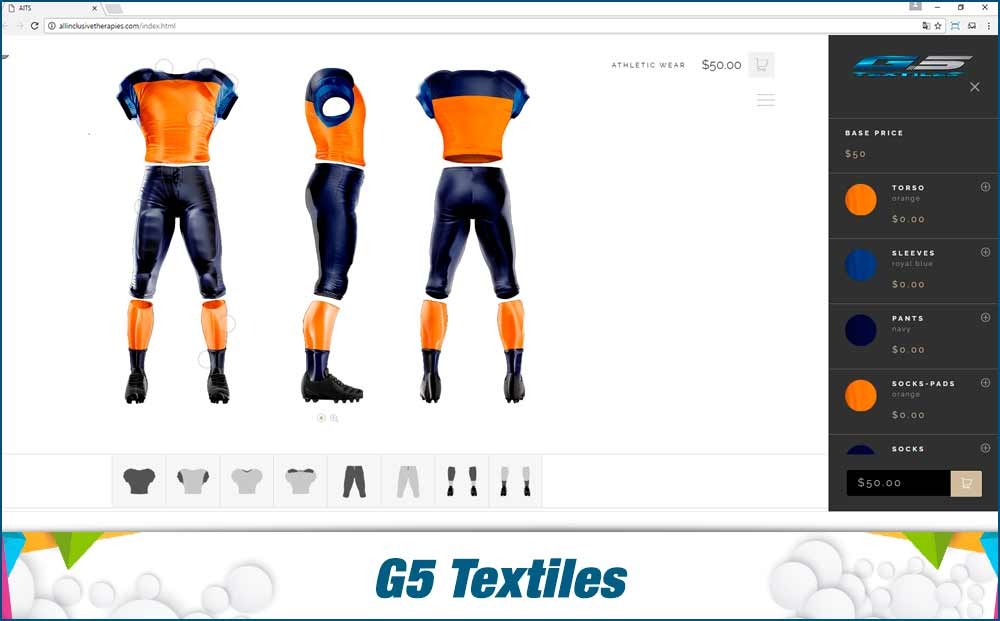 G5 Textiles- eccomerce